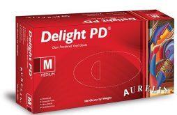 7f0e2ce7a19 Aurelia Delight PD ühekordsed puudriga vinüülkindad 100tk